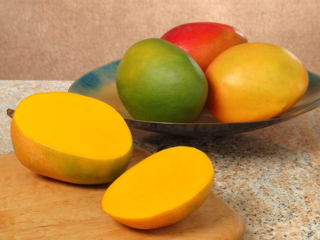 Make Sure That The Mango Is Ripe If You Will Push Fingers In It And If  Theye Out Leaving A Dent In It, Then It Is All Set To Be Eaten