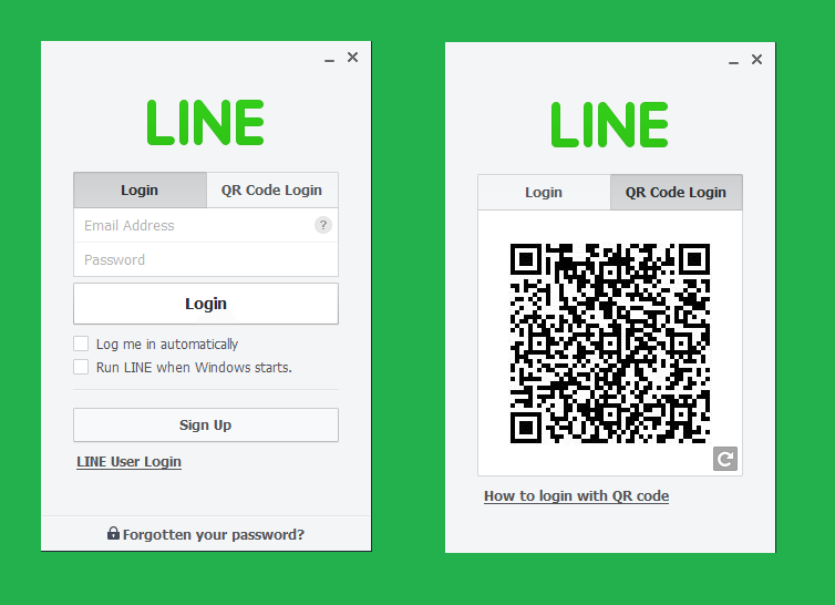 Line App Login with QR Code