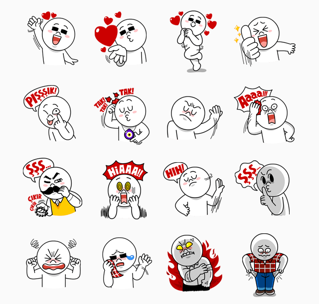 Line stickers and chat emotions