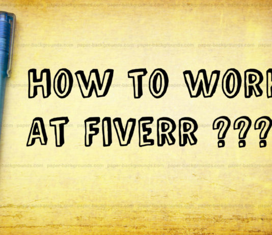 How-to-work-on-fiverr-online-job-earn money from home