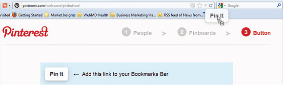 Adding Pinterest bookmarklet