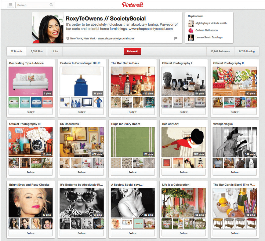 Have organized pins pinterest