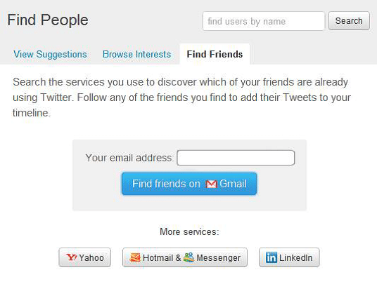 Search Friends on twitter