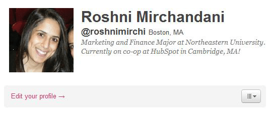 A tweet from Roshni Mirchandani