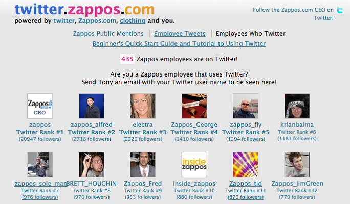 Zappos Uses twitter