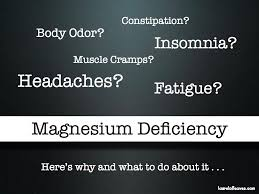 Problems Due to Magnesium Deficiency