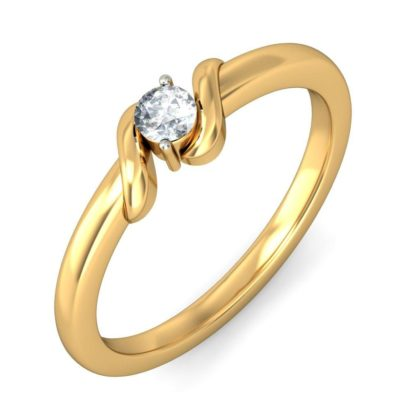Golden color ring with diamond