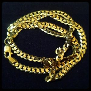 chunky gold link necklace