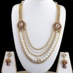 Gold necklace design-Craftsvilla-Gold-Plated-5-Strings-Necklace-With-Traditional-Design-Kundan-Work-B70-Prakruthifashion