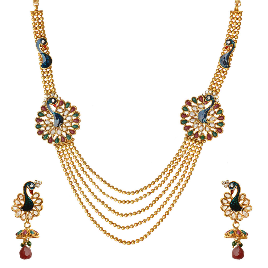 Gold necklace design-Many layer chain necklace - ANextWeb