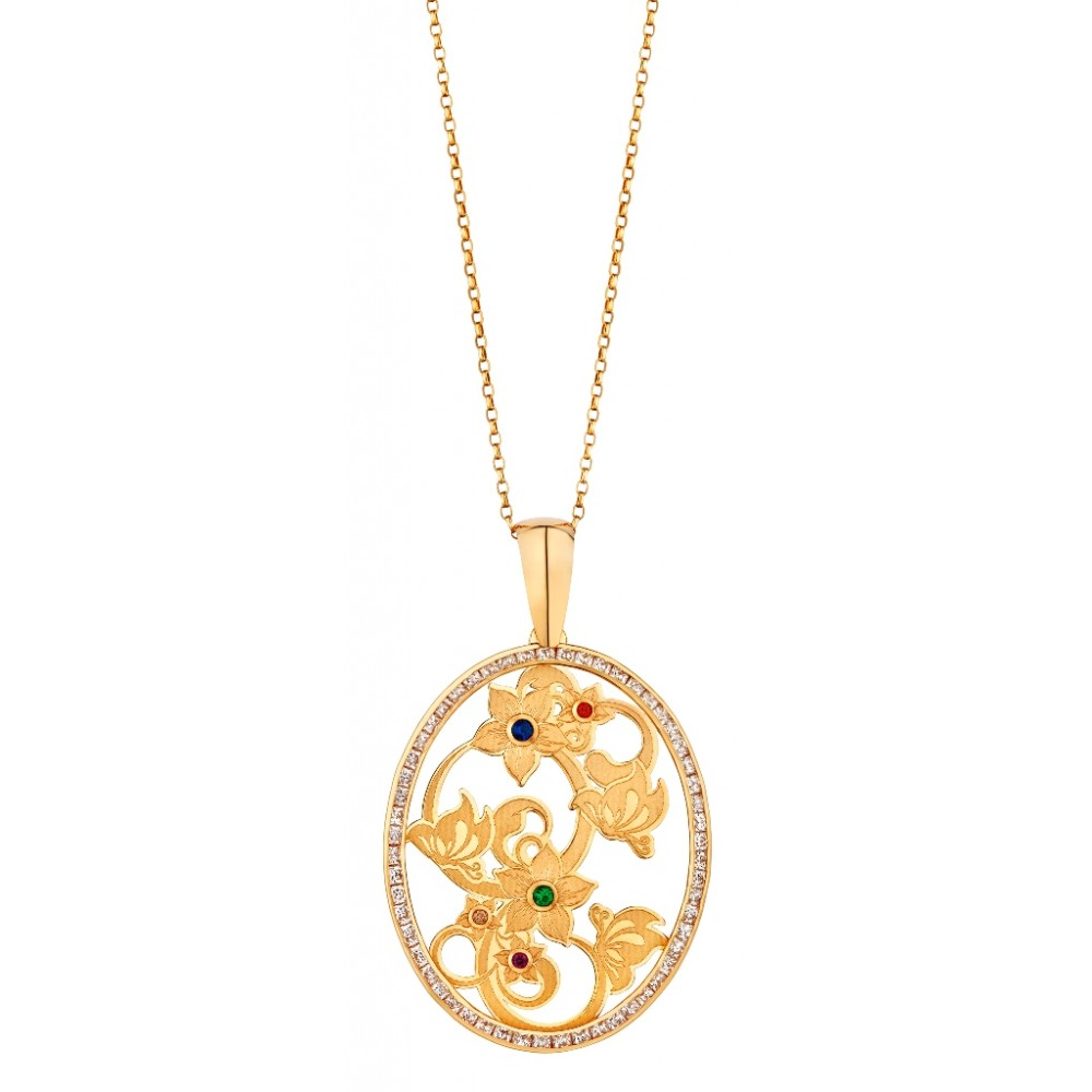 Gold pendant design pendant necklace with color ful stones anextweb gold pendant design pendant necklace with color ful stones aloadofball Choice Image