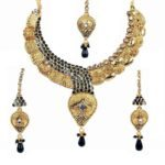Gold necklace design-traditional-necklace-set-aa