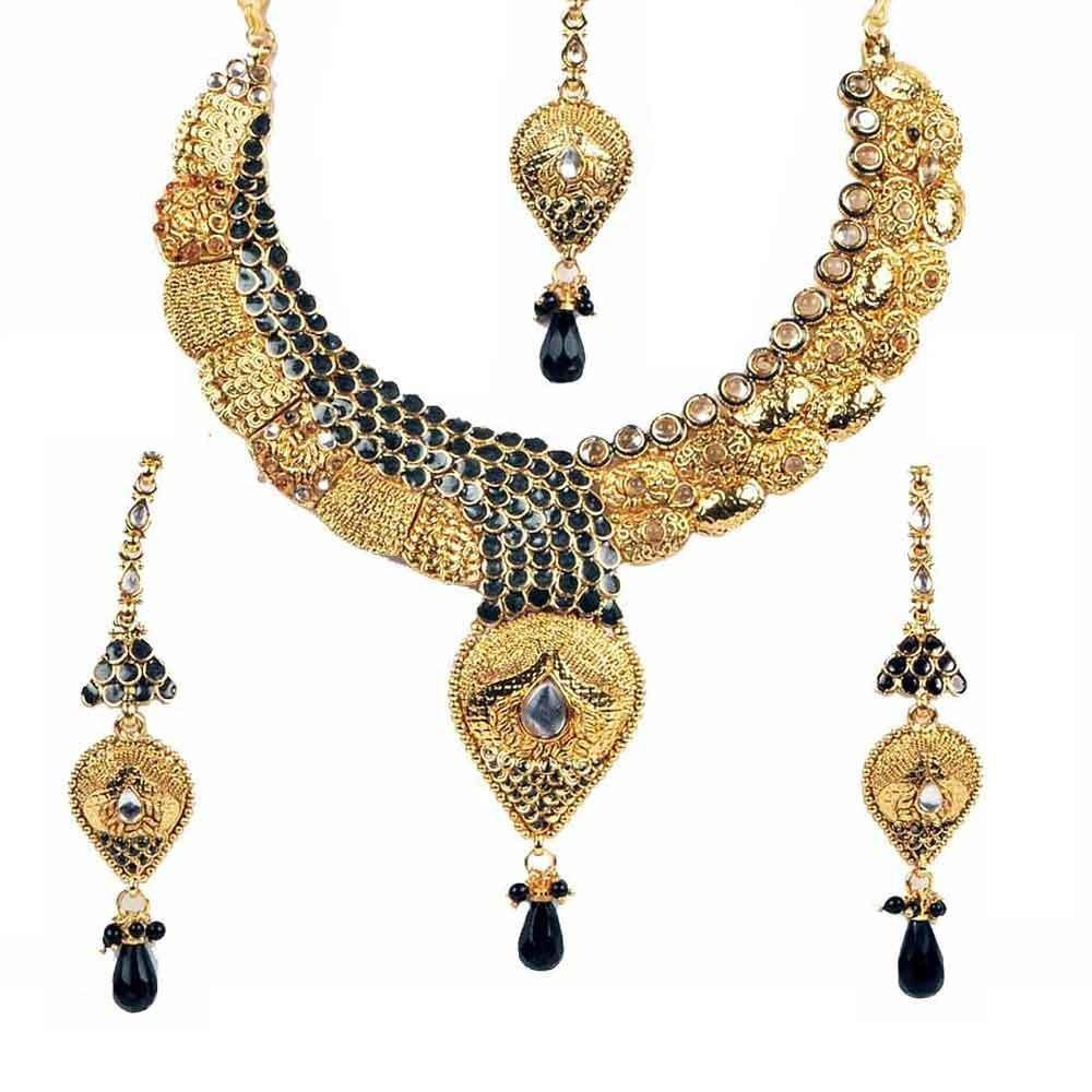 Gold necklace design-traditional-necklace-set-aa - ANextWeb