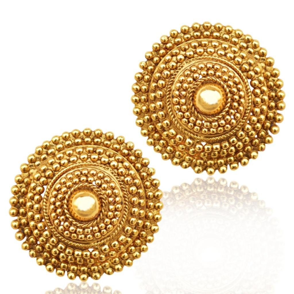 Designer studs earrings excellent gold stud earrings for Online designs