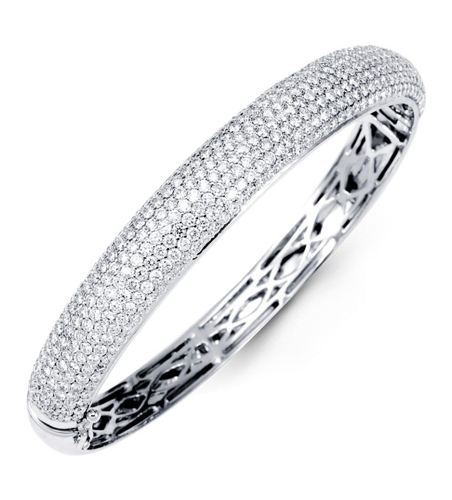 bracelet bangle hd bangles white solid diamond pave gold round cuff designs