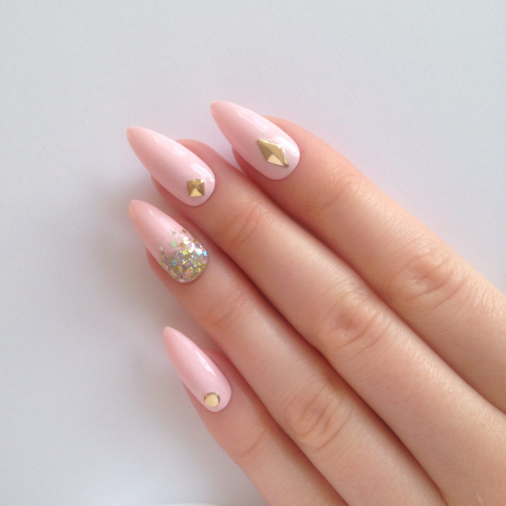 36 Pointy Light Pink Acrylic Nail Designs Anextweb