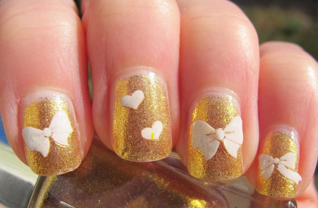 Fresh Nail Designs Gold With Pictures Of Nails Styles Latest On