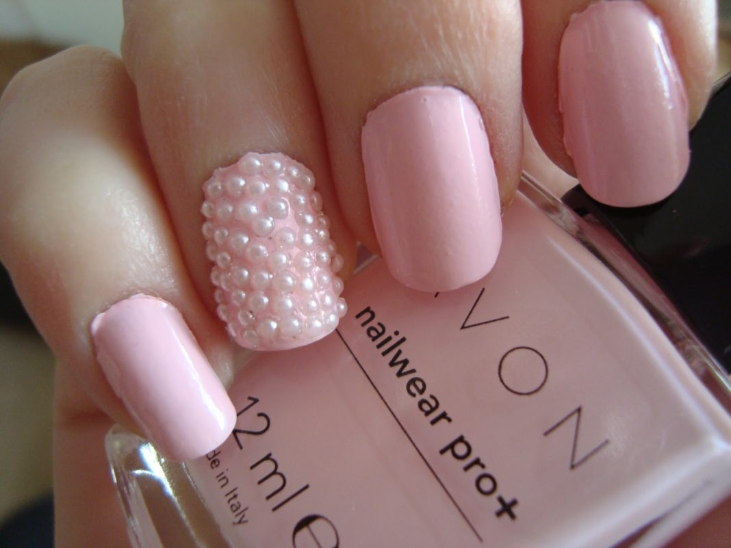 Unique Nail Designs With Pearls With Picture Of Pearl Nail Model New