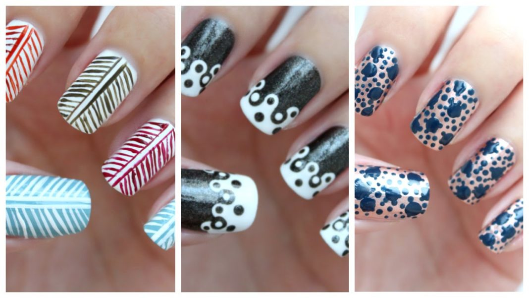 Easy Nail Art For Beginners 25 Jennyclairefox Youtube Thumbnail