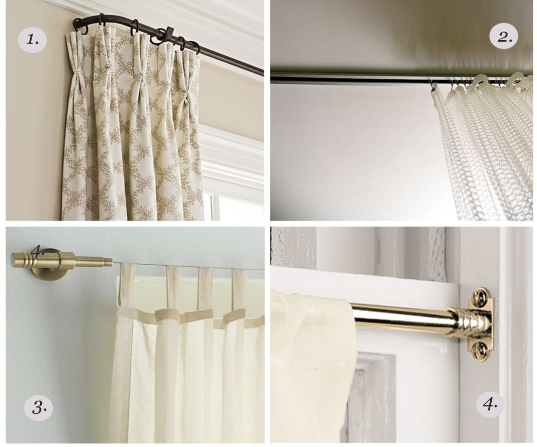 I Cool Iron Ceiling Mount Curtain Rod Rods Brackets