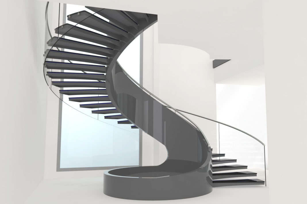 Modern stairs design which enhance the home individuality for Spiral stair design