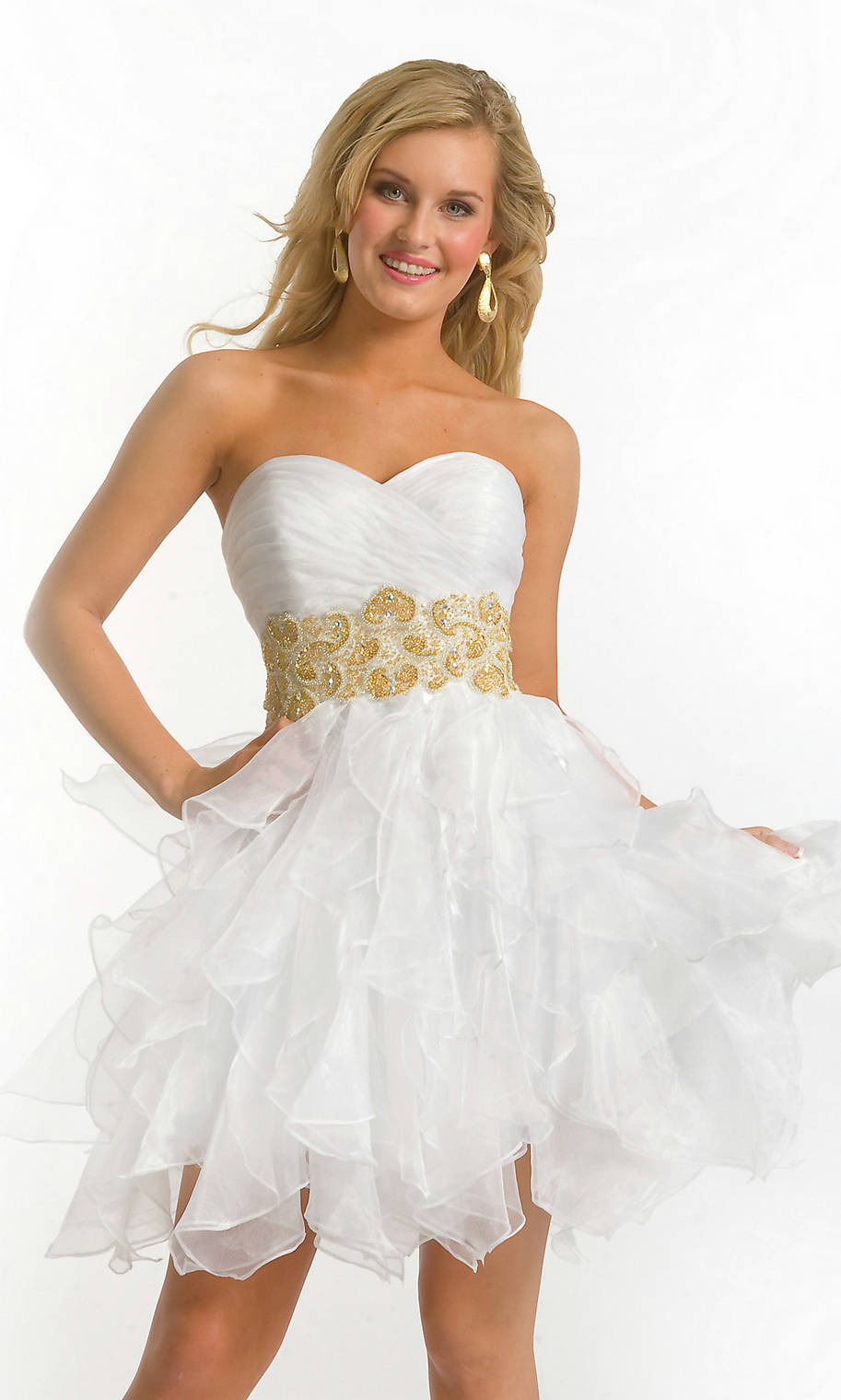 dress - White Short prom dresses pictures video