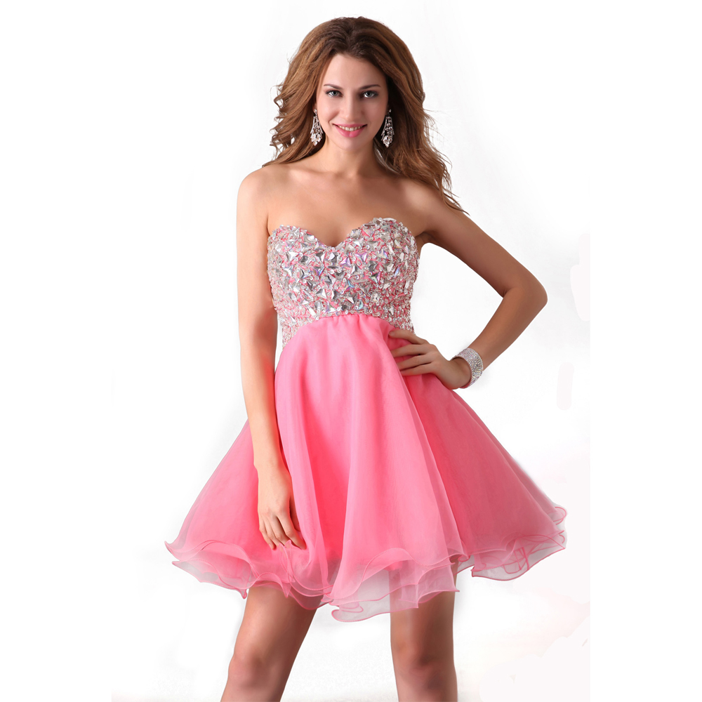l-Beaded-Pink-Short-Prom-Dress | ANextWeb