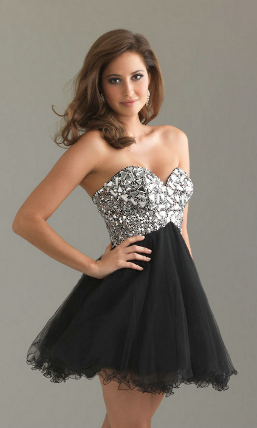 Fashion week Strapless Short formal dresses for lady