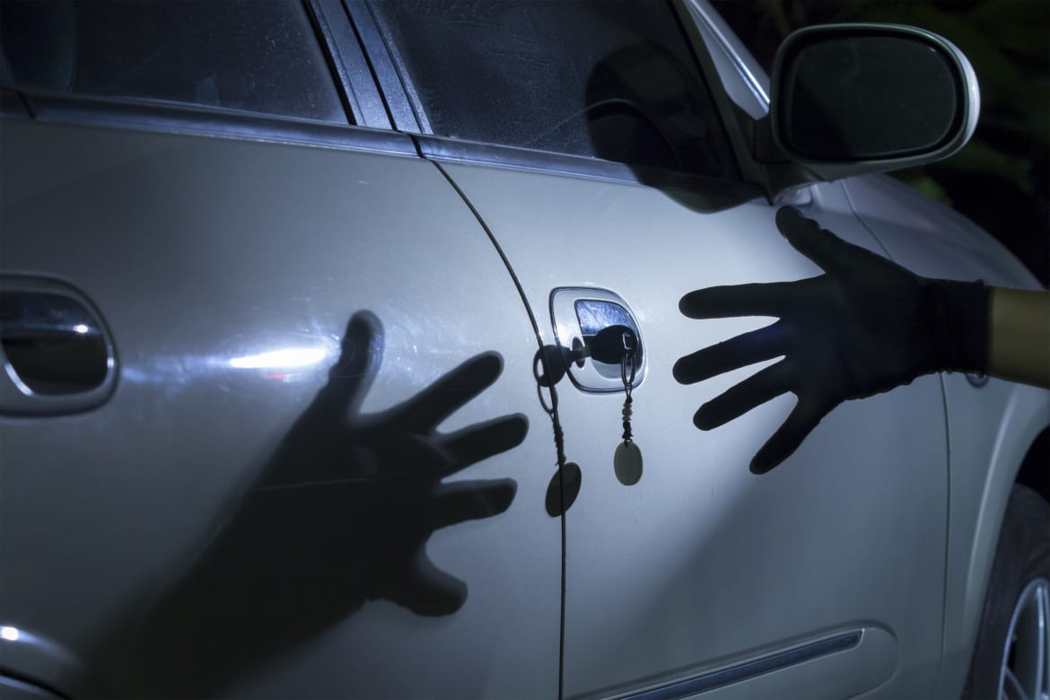 Theft Obstruction reference for car