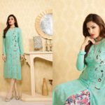 Georgette fabric embroidery Western style Ready-made Kurtis