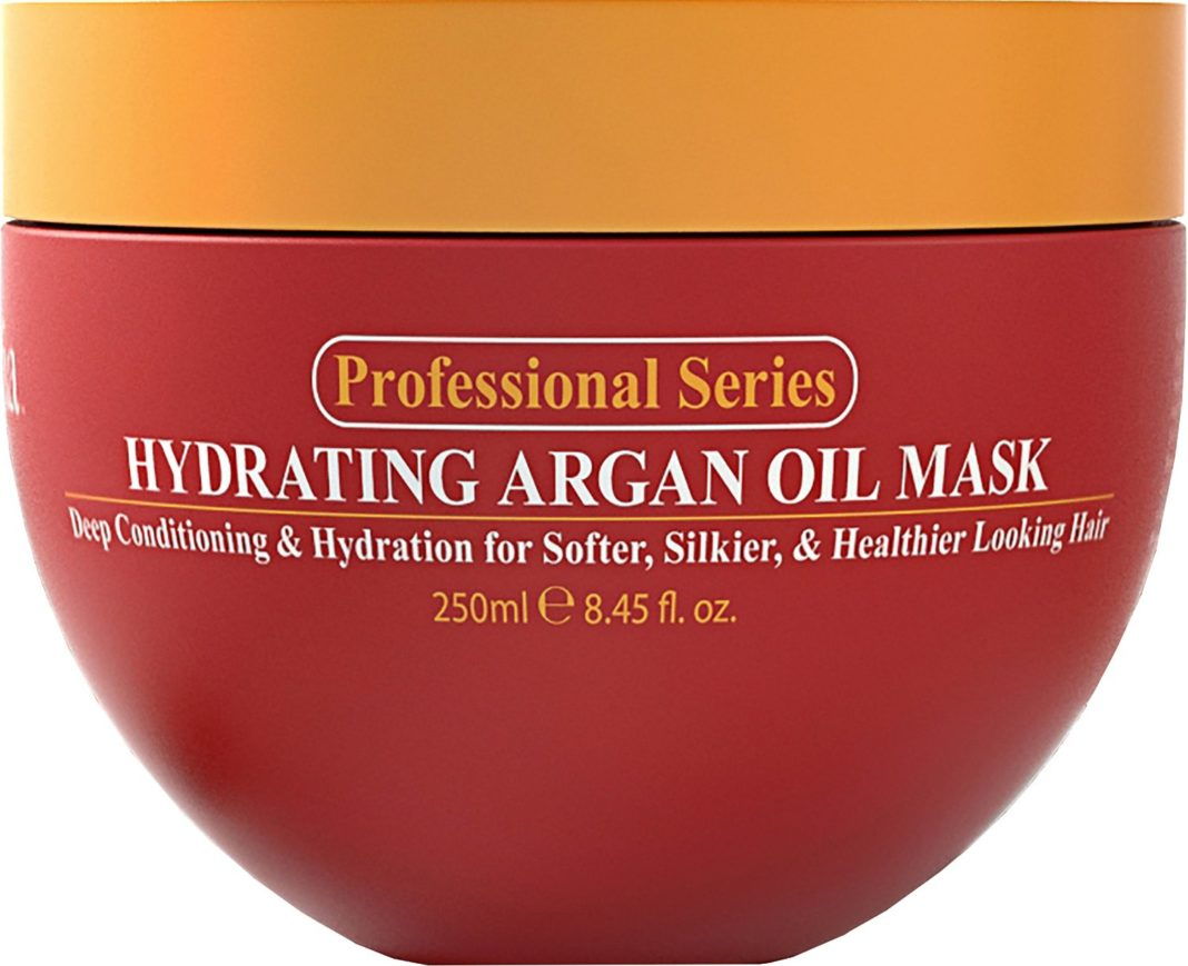 Hydrating Argan Oil Hair Mask and Deep Conditioner By Arvazallia for Dry or Damaged Hair - 8.45 Oz
