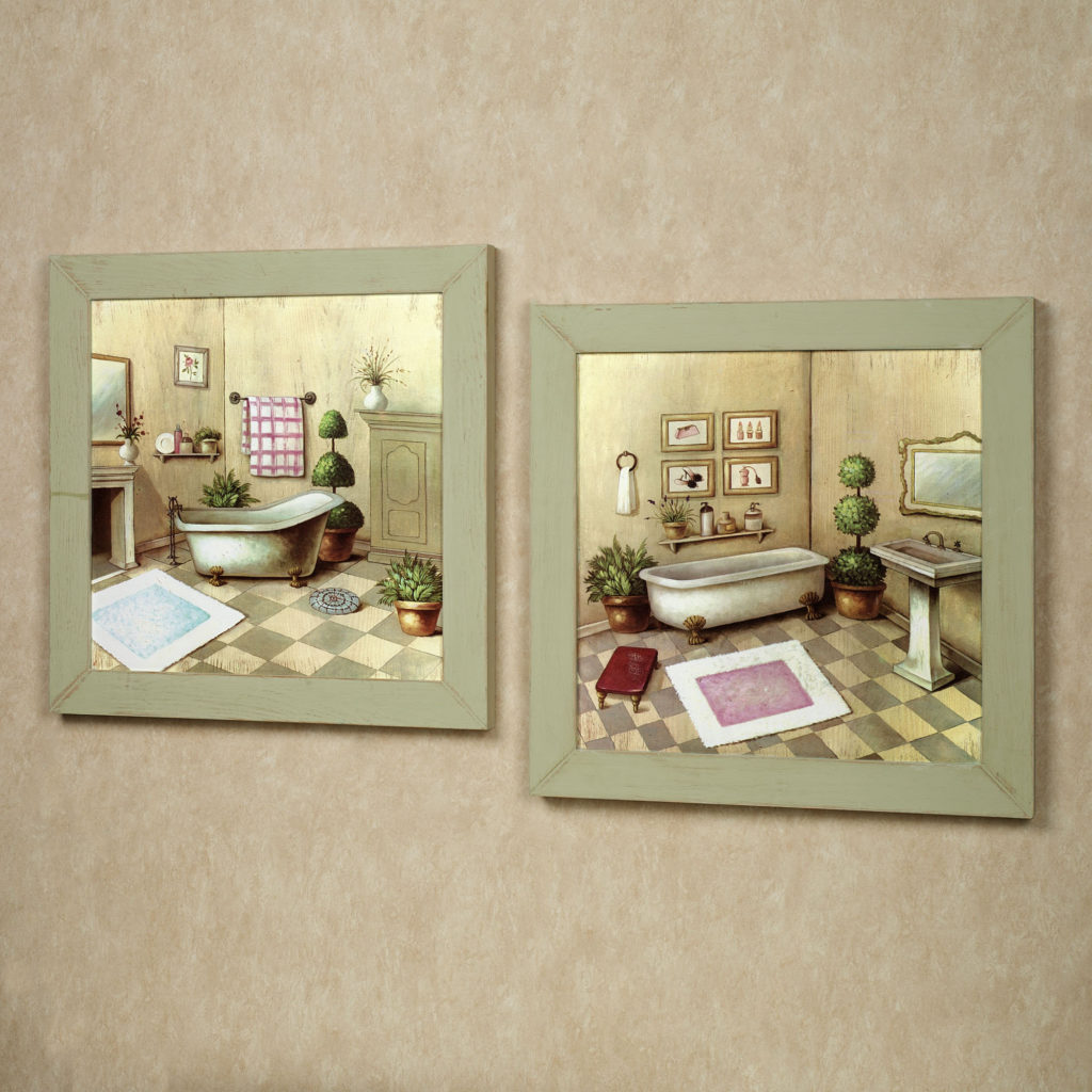 Simple Country Bathroom Wall Hangings Anextweb