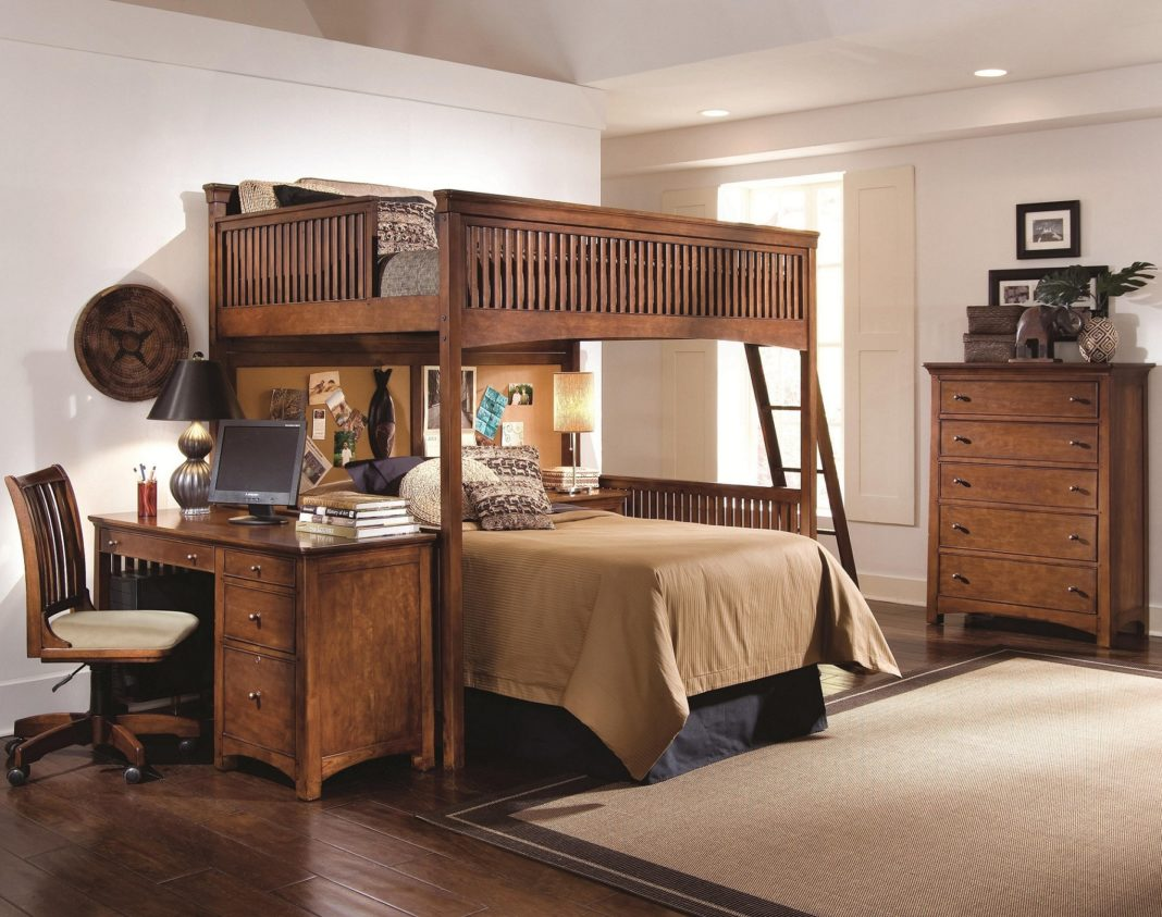 Picture of: Wooden Bunk Bed Desk Combo Designs Anextweb