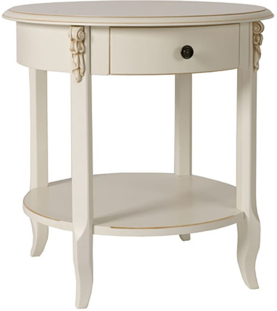 Small Round Side Table White, Small Round End Table With Drawer